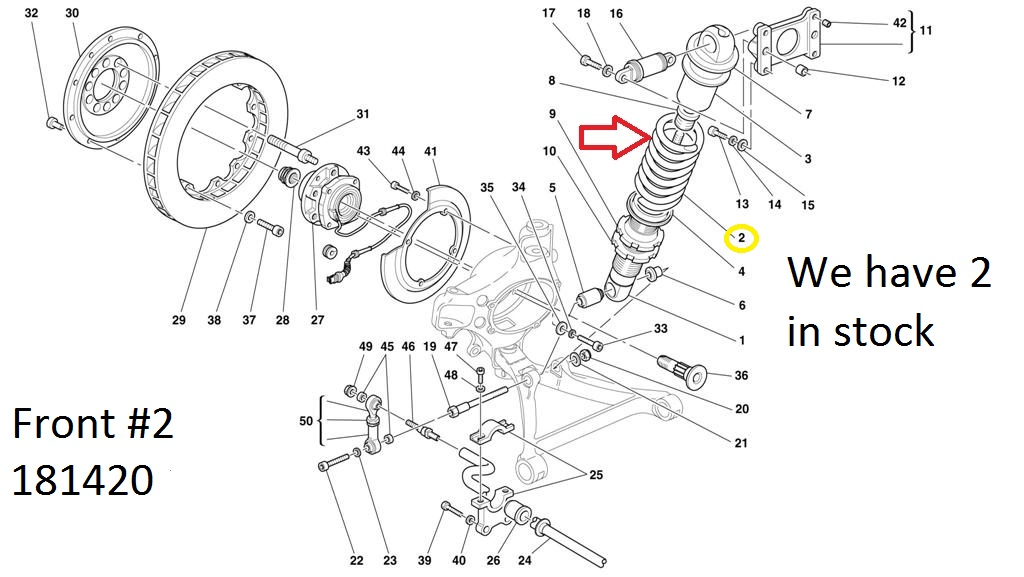 Ferrari 360 F360 two Front 181420 one Rear 181421 Spring 0