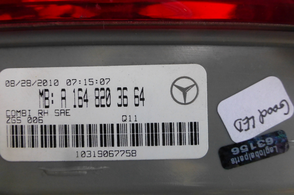 Mercedes benz gl rear right taillight stop turn lamp for Mercedes benz gl450 parts catalog
