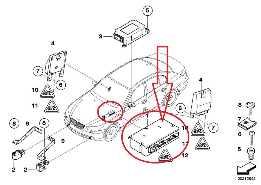 BMW 5 6 Series Airbag with Gateway Module ECU LEAR