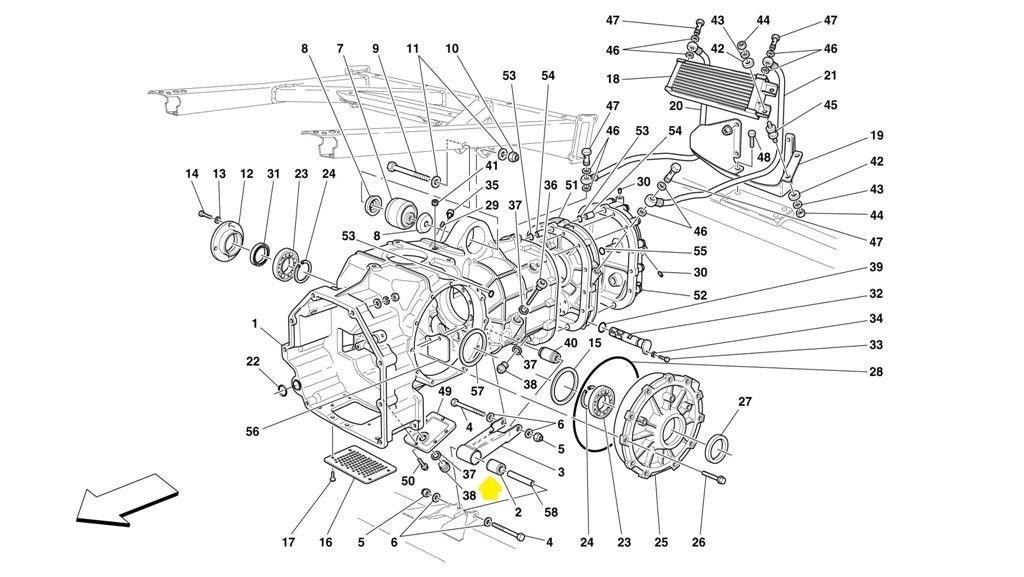 2000-2008 Ferrari 360 Modena Spider Gearbox Bushing 181755