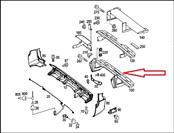 Mercedes Benz Sprinter W906 Rear Bumper Step Panel Pad Running Board 9065200331