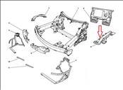 Ferrari 458 Italia Spyder Front Left Driver LH Fender Mounting 81304300  - Used Auto Parts Store | LA Global Parts