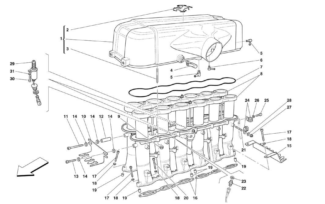Ferrari Enzo Complete Plenum Chamber with Cavalino