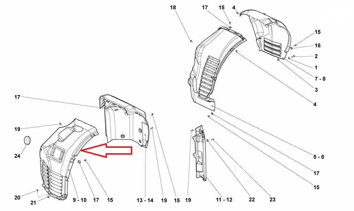 Lamborghini Gallardo LP560 Front Right Wheelhouse Arpon